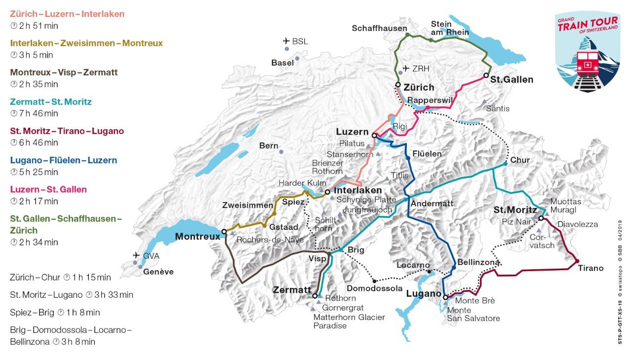 Grand Train Tour Of Switzerland Sbb