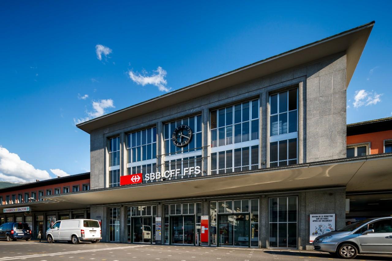 Sion station u shopping sbb
