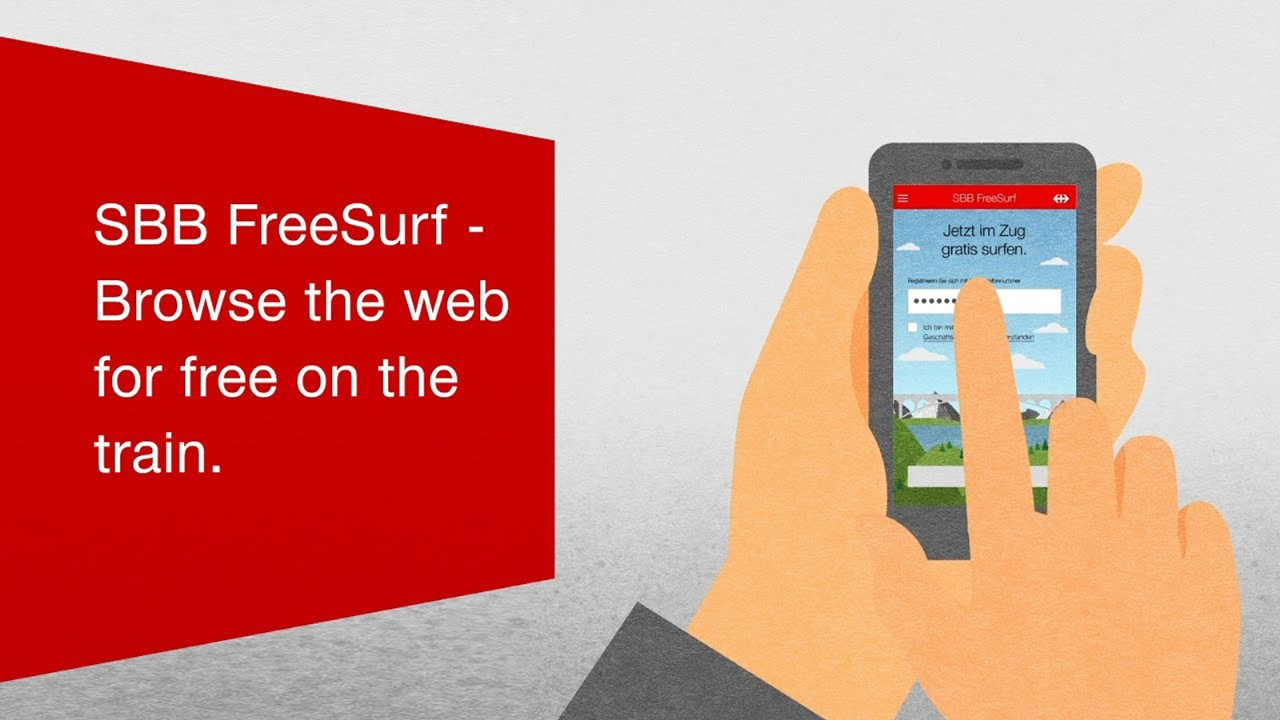 SBB FreeSurf - Browse the web for free on the train.